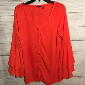 G by Marciano Bell Sleeve Blouse